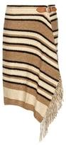 Polo Ralph Lauren Striped knitted silk, cotton and linen wrap skirt