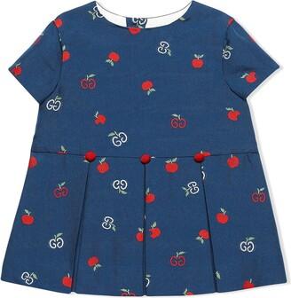 Gucci Kids GG apple fil coupe dress