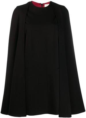 Sara Battaglia cape sleeve dress