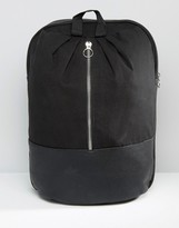 Asos Backpack With Front Metal Zip