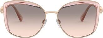Bvlgari Half-Rim Square Sunglasses