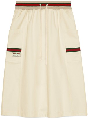 Gucci Cotton skirt with label