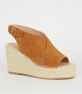 New Look Suedette Espadrille Wedges