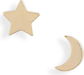 Estella Bartlett Mismatched Star & Moon Stud Earrings