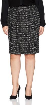 Nine West Women's Plus Size Jacquard Slim Skirt