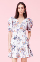 Rebecca Taylor Toile Linen V-Neck Dress