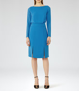 Reiss Alessa Sheer-Sleeve Dress