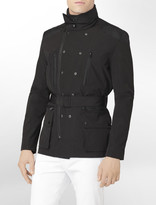 Calvin Klein Button Detail Belted Military Jacket