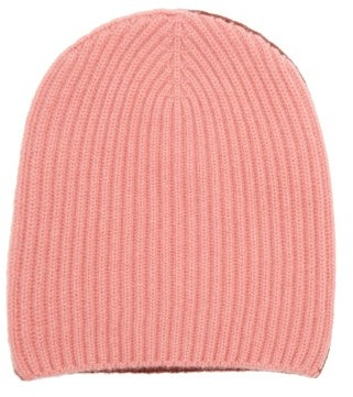 Begg & Co. - Two-tone Ribbed Cashmere Beanie Hat - Pink Multi