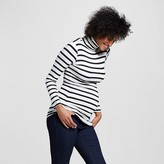 Maternity Long Sleeve Striped Turtleneck Ivory/Black - Expected by Lilac
