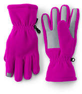 Lands' End Girls ThermaCheck 200 Solid Gloves-Gray Heather