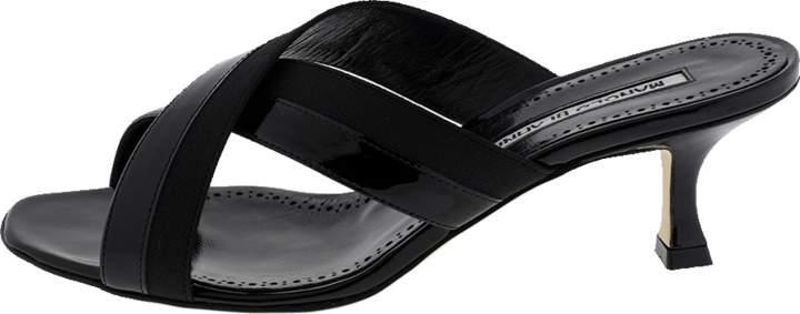 Manolo Blahnik Criss Cross Mule Shoe