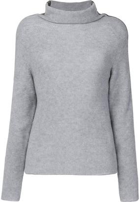Jo No Fui tubular neck sweater