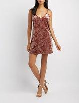 Charlotte Russe Velvet Shift Dress