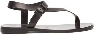 Álvaro González Andreina Asymmetric Leather Sandals - Black