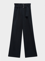 DKNY Pure Wide Leg Pant With Self Belt