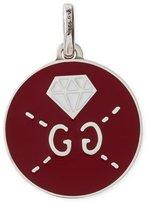 Gucci GucciGhost Sterling Silver & Enamel Diamond Charm