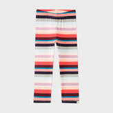 Paul Smith Girls' 7+ Years 'Sunray Stripe' Stretch-Cotton Leggings