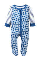 Boppy Baby Blues Geo Print Zip Front Sleep & Play Footie (Baby Boys)