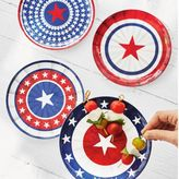 Sur La Table Pinwheel Melamine Plates, Set of 4