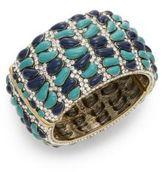 Heidi Daus Wrapped In Sparkle Swarovski Crystal Hinge Bracelet/Goldtone