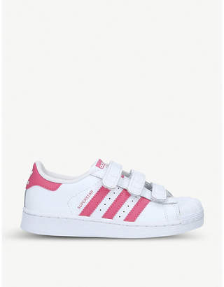 adidas Superstar leather trainers 6-9 years