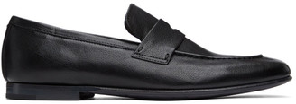 Dunhill Black Soft Chiltern Patina Loafers