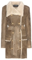 Balmain Shearling-lined Suede Coat