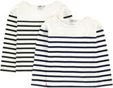 Junior Gaultier Pack of 2 striped tops
