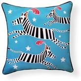 Circus Zebra Indoor/Outdoor Throw Pillow Naked Decor
