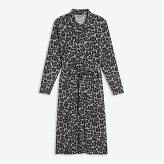 Joe Fresh Women+ Knit Shirt Dress, Black (Size 3X)