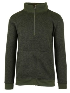 Galaxy By Harvic Men's Marled Half Zip Pullover Sweater