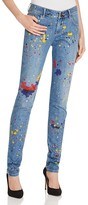 Alice + Olivia Joana Splatter Paint Skinny Jeans in Denim Multi