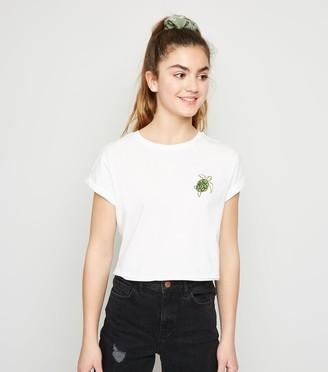 New Look Girls Turtle Print Boxy T-Shirt