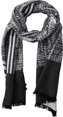 Tickled Pink Accessories Wool Temple Stripe Cozy Oversized Long Scarf for All Seasons