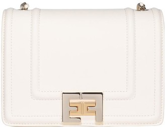Elisabetta Franchi Logo Buckle Shoulder Bag