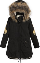 GUESS Faux-Fur Drawstring Parka, Big Girls (7-16)