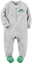 Carter's Baby Boy Embroidered Animal Striped Sleep & Play