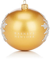 Barneys New York Crystal-Snowflake Glass Ball Ornament