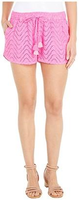 Vineyard Vines Wave Eyelet Pull-On Shorts (Pink Wave) Women's Shorts