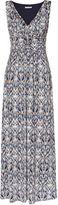 Gina Bacconi Blue Multi Print Jersey Maxi Dress