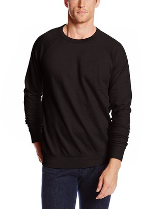 MJ Soffe Soffe Men's French Terry Crew Sweatshirt Black Small