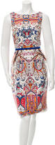 David Meister Sleeveless Printed Dress