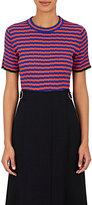 Proenza Schouler Women's Striped Silk and Cashmere Crop Top