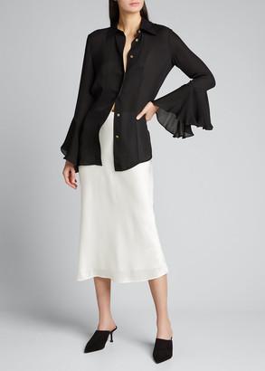 L'Agence Perin Bias Mid Length Skirt