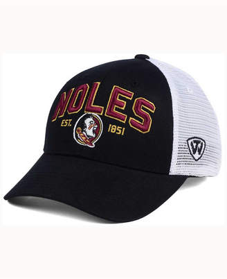 Top of the World Florida State Seminoles Black Mesh Teamwork Snapback Cap