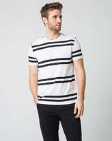 Le Château Stripe Cotton Blend Crew Neck T-Shirt