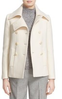 Nordstrom Women's Stretch Melton Peacoat