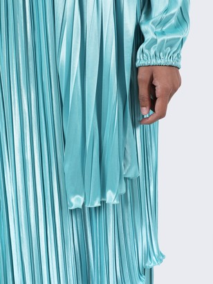Gucci Embellished Turquoise Pleated Evening Gown