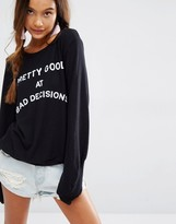 Wildfox Couture Bad Decision Baggy Beach Top